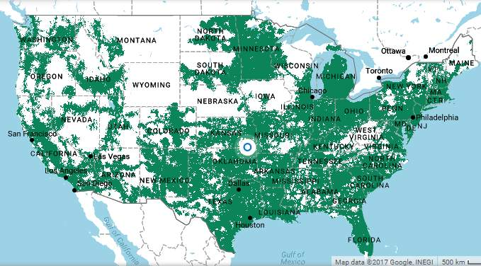 United States coverage for Ultra Mobile